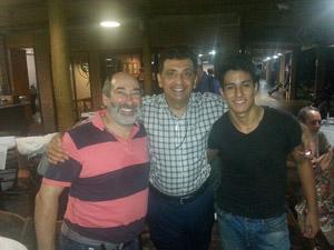 Jair Carmona, Antonio Padula, presidente da FPG, e Ramon Marttos