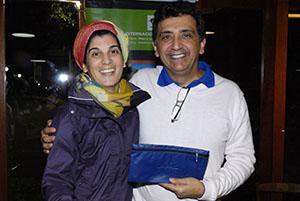 Cecilia Teixeira, da Golf Travel, e Antonio Padula, presidente FPG Foto: Zeca Resendes