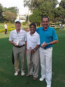 JB Miranda, Joazinho e Henrique Barcellos, ganhadores de bolas na campanha de recadastramento da APG