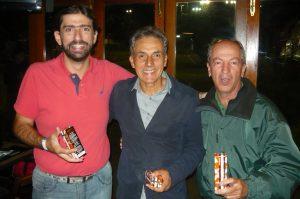 Marcos Scarpim, Sérgio Araujo e Cássio Missiroli